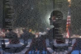 President Obama at the Vietnam memorial in May 2012, marking the 50th anniversary of the conflict's start.
